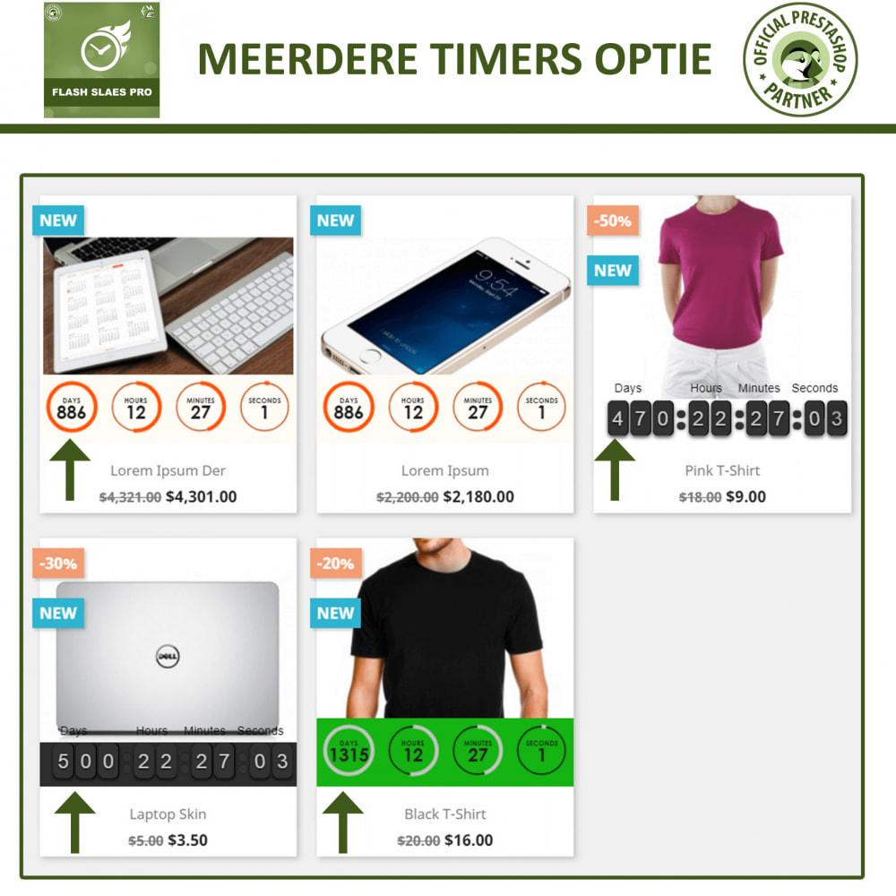 module - Uitverkoop & Besloten verkoop - Flash Sales Pro - Korting met een Aftel Timer - 3