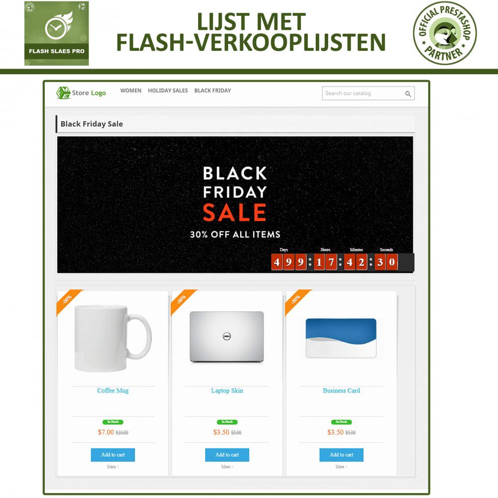 module - Uitverkoop & Besloten verkoop - Flash Sales Pro - Korting met een Aftel Timer - 7