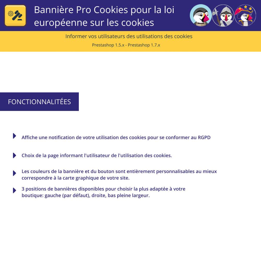 module - Législation - Bannière De Cookies Pour La Loi Européenne Des Cookies - 1