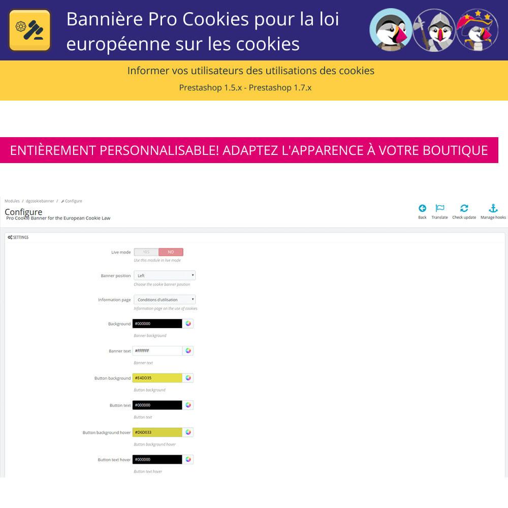 module - Législation - Bannière De Cookies Pour La Loi Européenne Des Cookies - 6