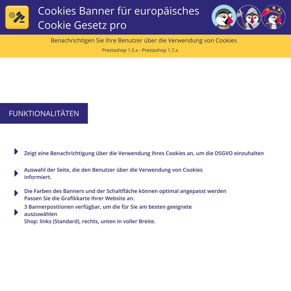module - Rechtssicherheit - Pro Cookies Banner für das europäische Cookie-Gesetz - 1