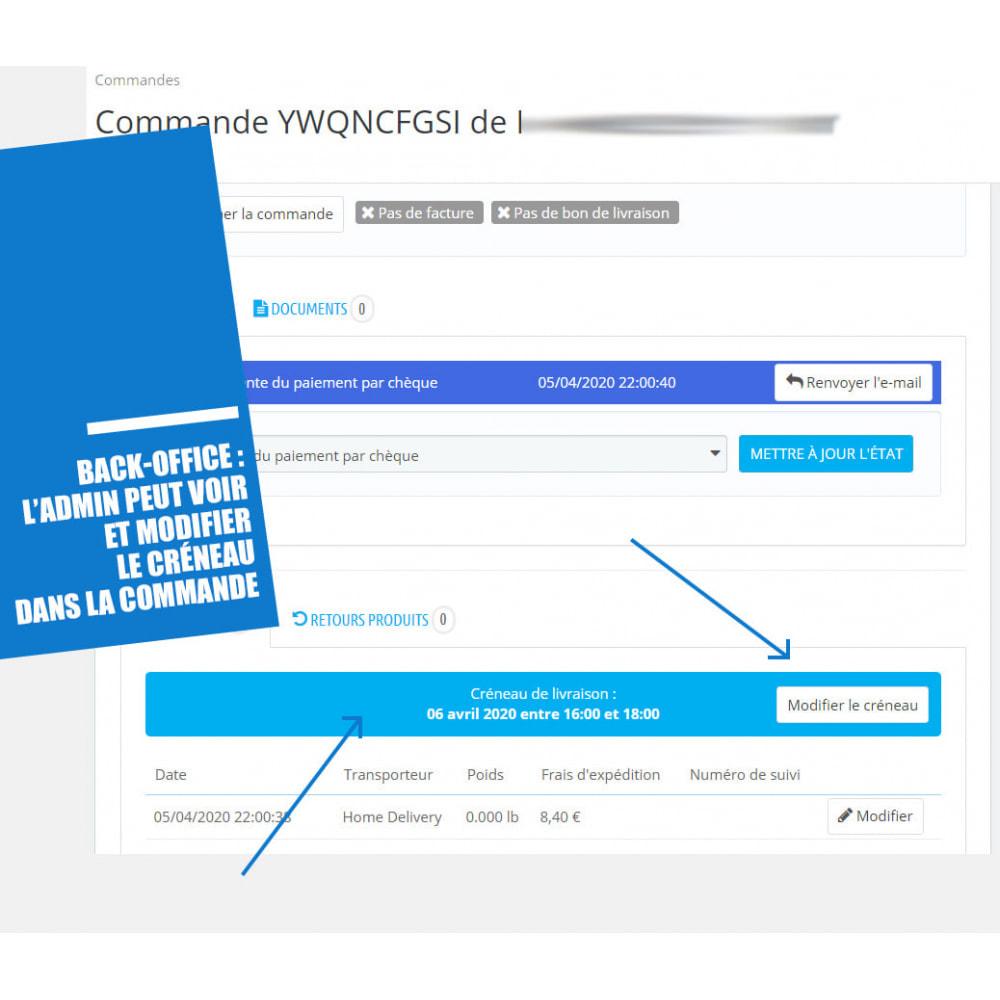 module - Date de livraison - Créneaux de livraison par zones, codes postaux et coût - 10