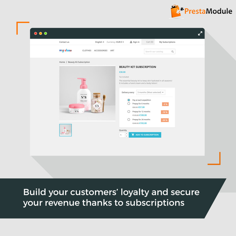 module - Abbonamenti (subscription box) - Advanced Subscription with automatic recurring payments - 1