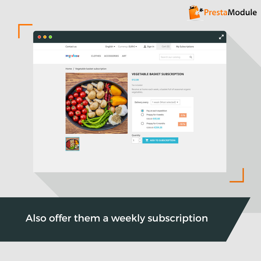 module - Abbonamenti (subscription box) - Advanced Subscription with automatic recurring payments - 2