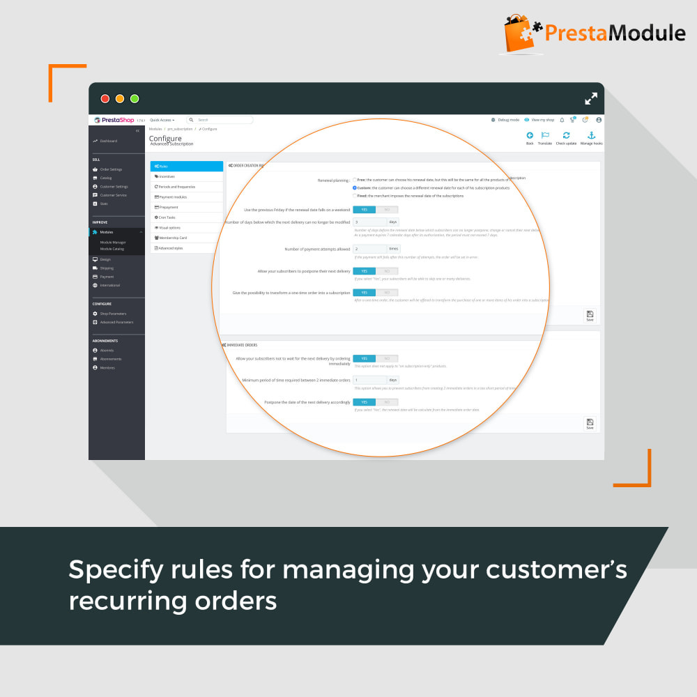 module - Assinaturas (Box) - Advanced Subscription with automatic recurring payments - 7