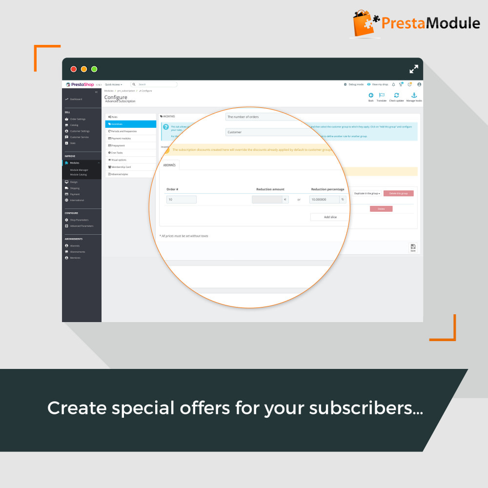module - Abbonamenti (subscription box) - Advanced Subscription with automatic recurring payments - 11