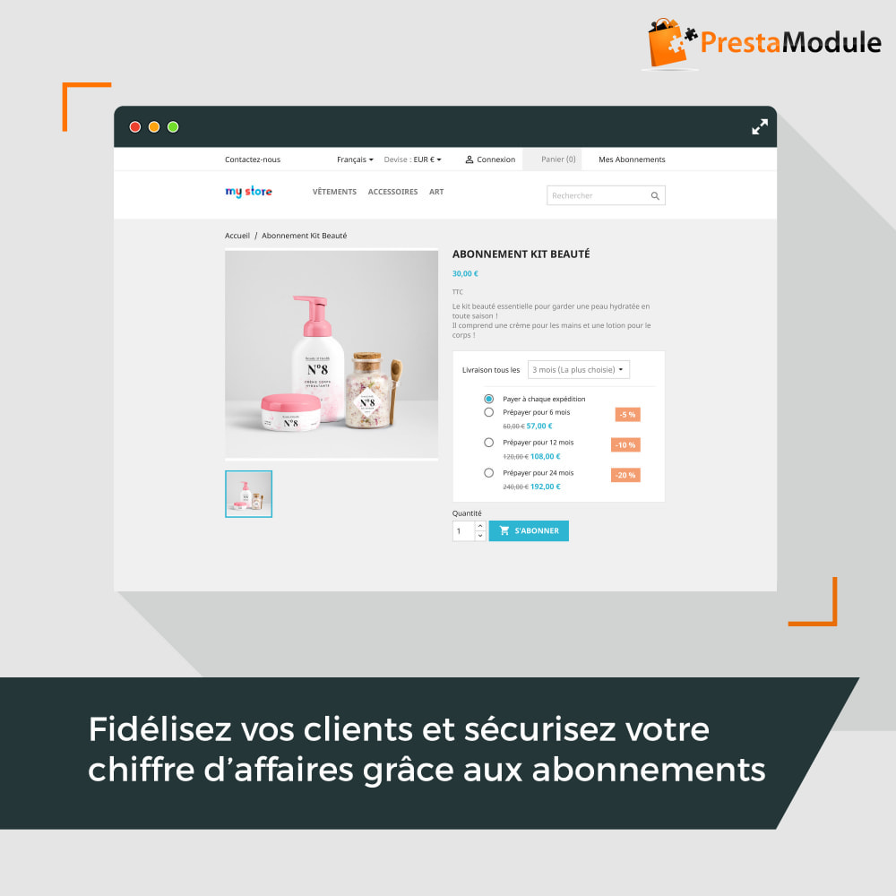 module - Abonnement (box) - Advanced Subscription: Abonnement & paiement récurrent - 1