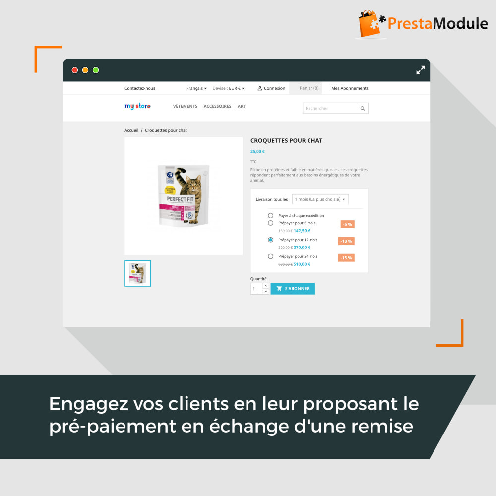 module - Abonnement (box) - Advanced Subscription: Abonnement & paiement récurrent - 3