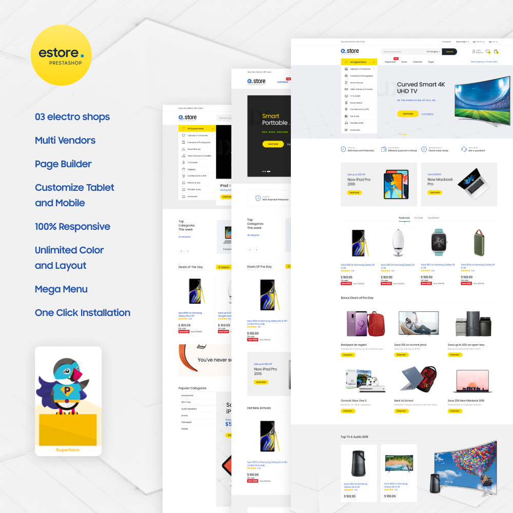 theme - Электроника и компьютеры - Gstore - Supermarket and Digital Store - 1