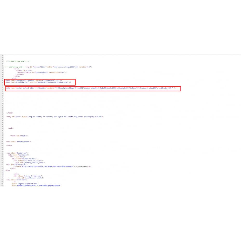 module - Оптимизация сайтов (SEO) - Подтверждение сайта для веб-мастеров - 3