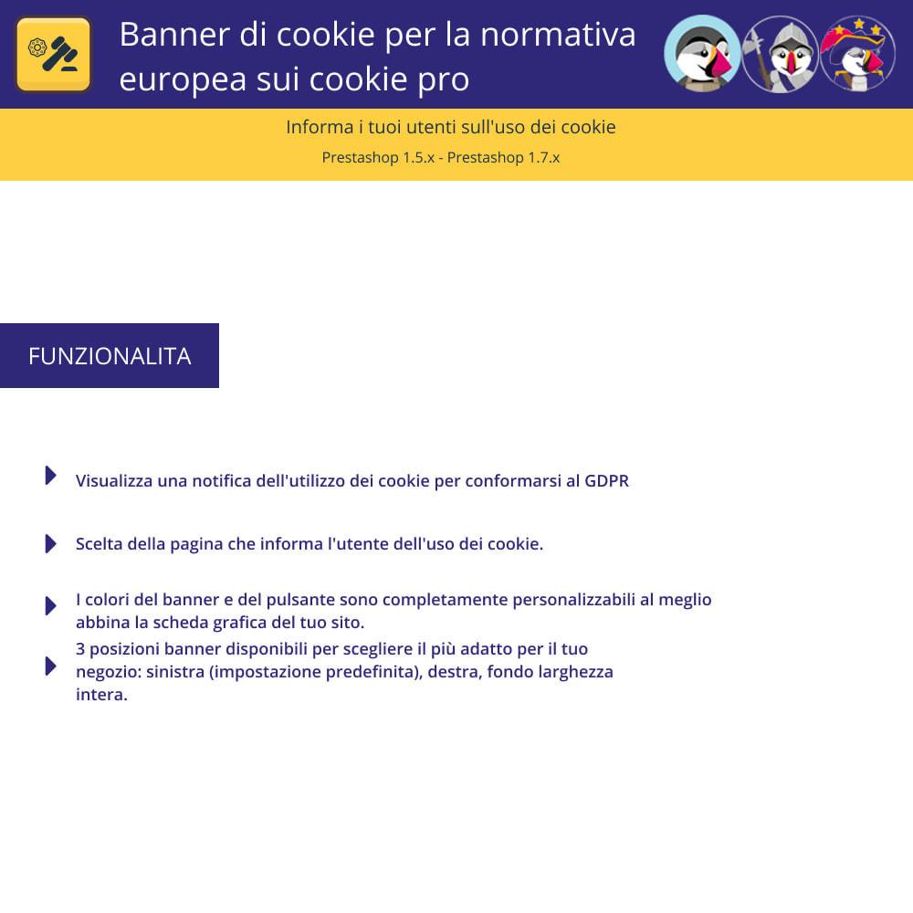 module - Legale (Legge Europea) - Banner Pro Cookies per la legge europea sui cookie - 1