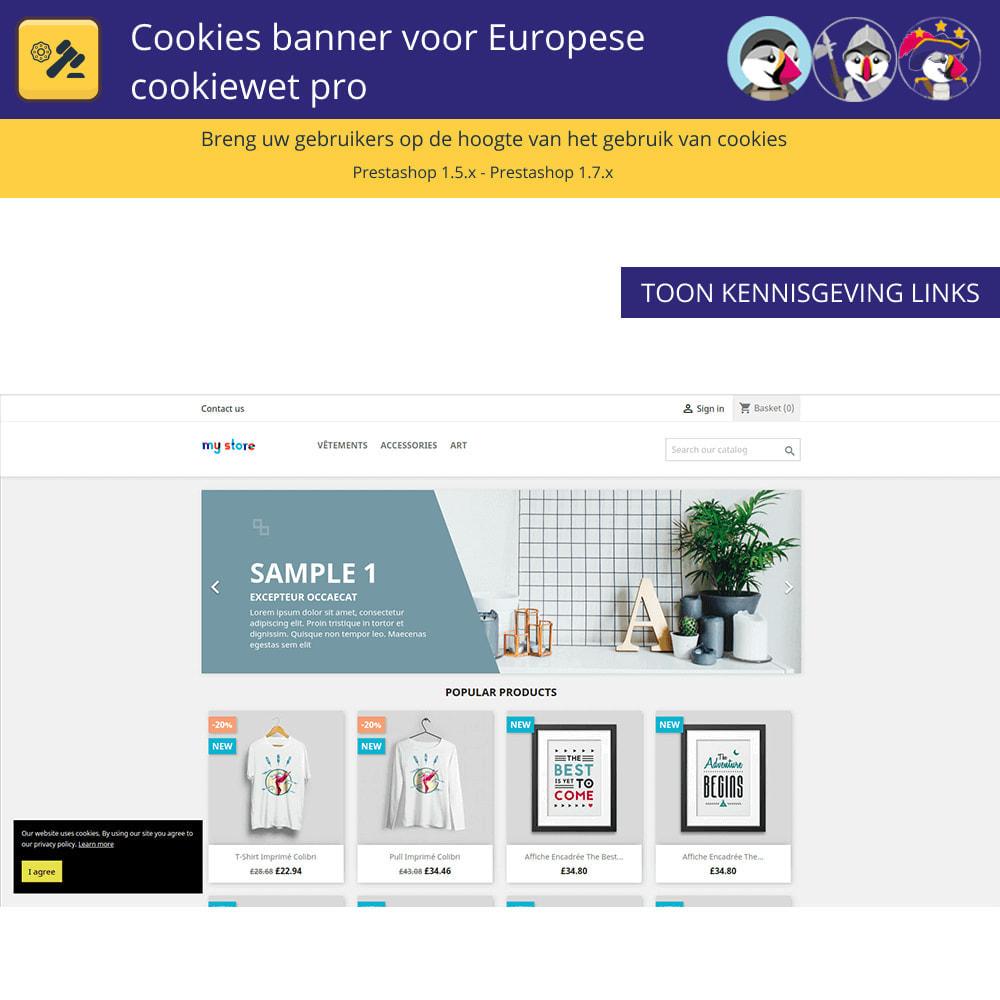 module - Juridisch - Cookiesbanner voor Europese wetgeving - 2