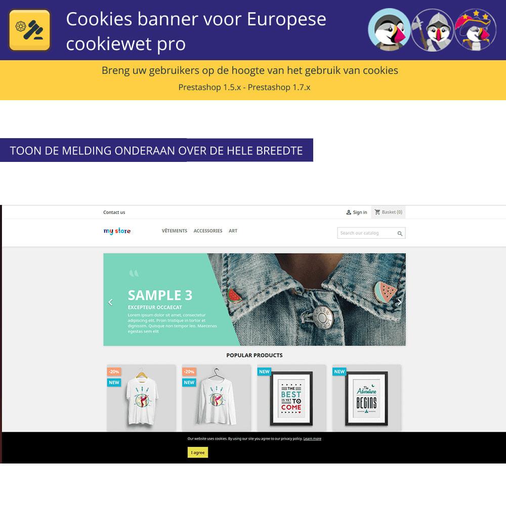 module - Juridisch - Cookiesbanner voor Europese wetgeving - 4