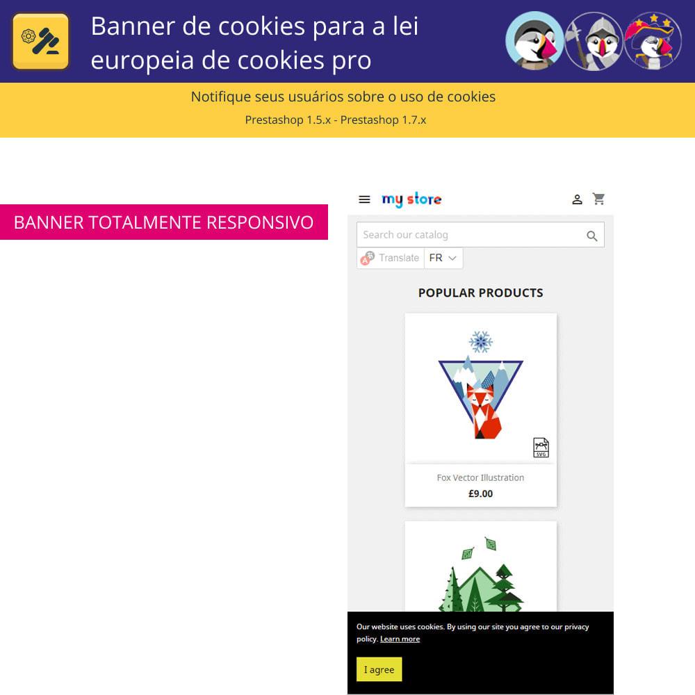 module - Jurídico - Cookies do Banner Pro para regras europeias de cookies - 5