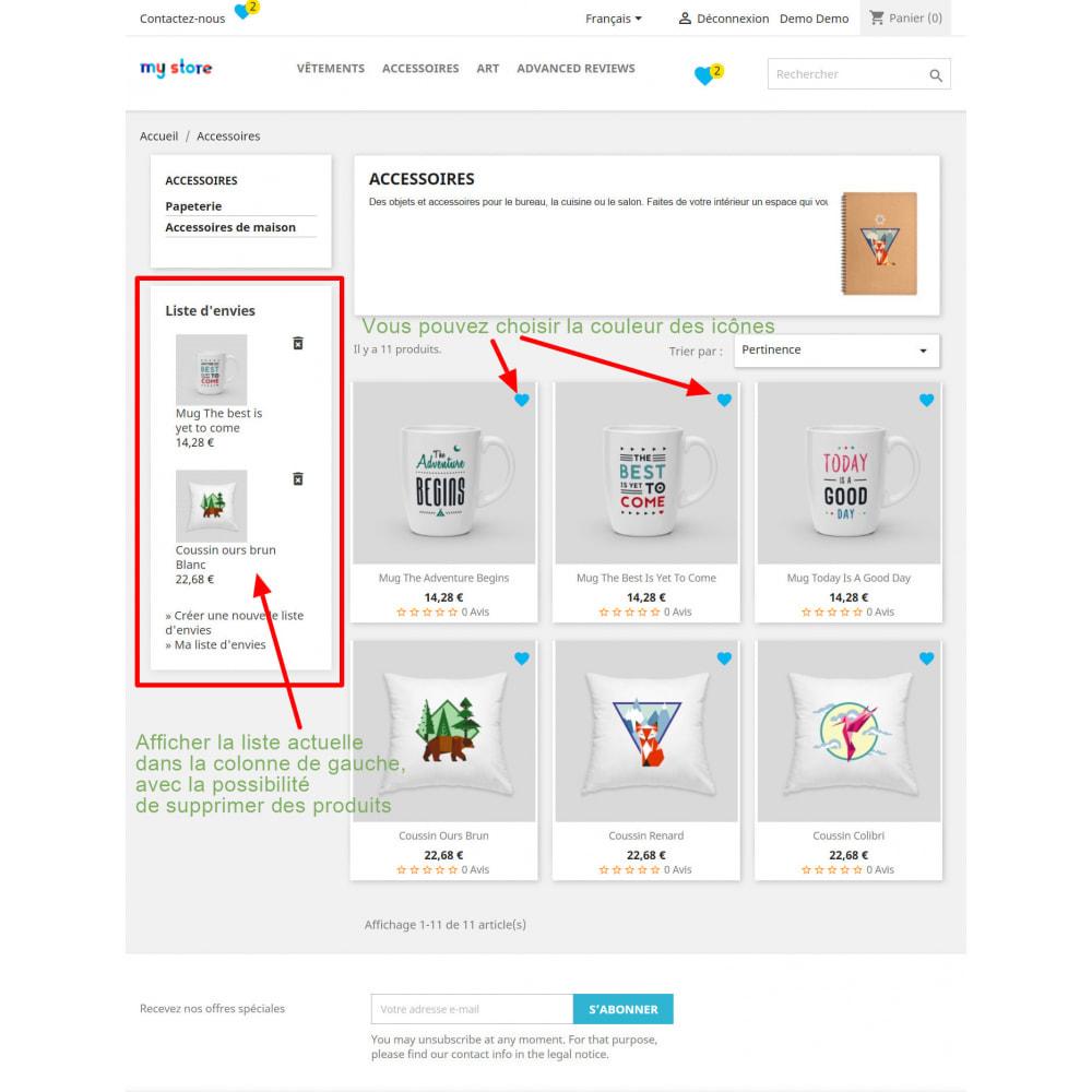 module - Liste de souhaits & Carte cadeau - Liste de souhaits avancé - 2