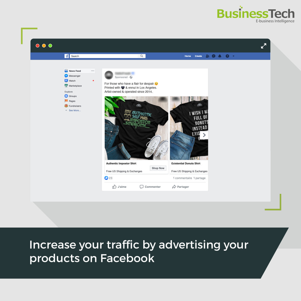 module - Remarketing & Shopping Cart Abandonment - Dynamic Ads + Pixel & Facebook Shops - 1