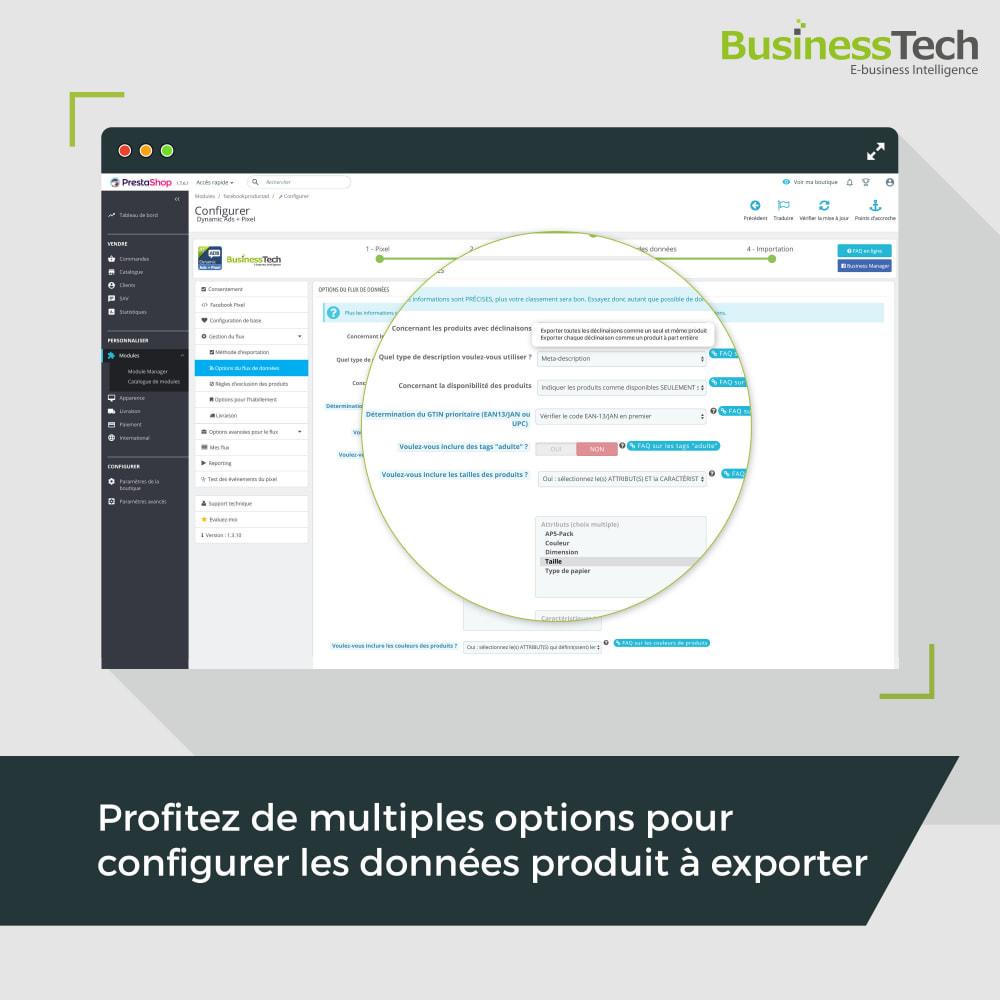 module - Produits sur Facebook & réseaux sociaux - Facebook Dynamic Ads + Pixel & Boutiques - 5