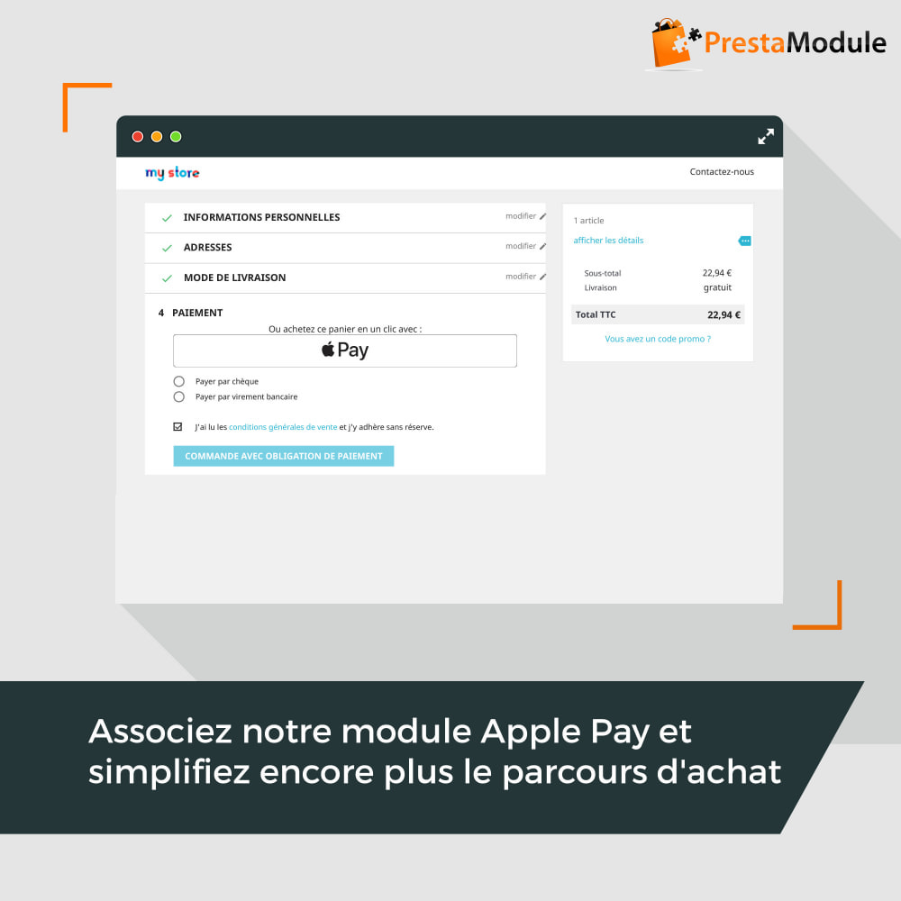 module - Inscription & Processus de commande - Easy Places - 3