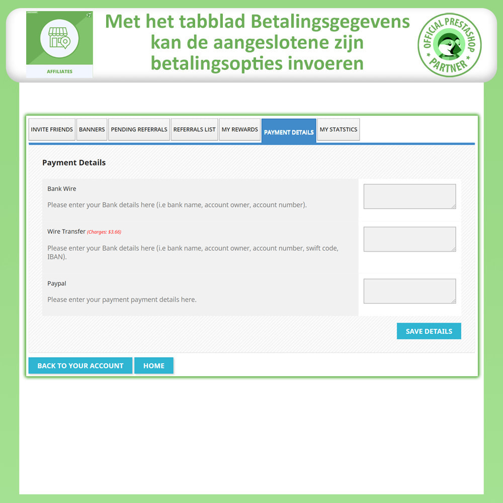 module - Betaalde vermelding & Lidmaatschap - Affiliates Pro, Affiliate & Referral Program - 6