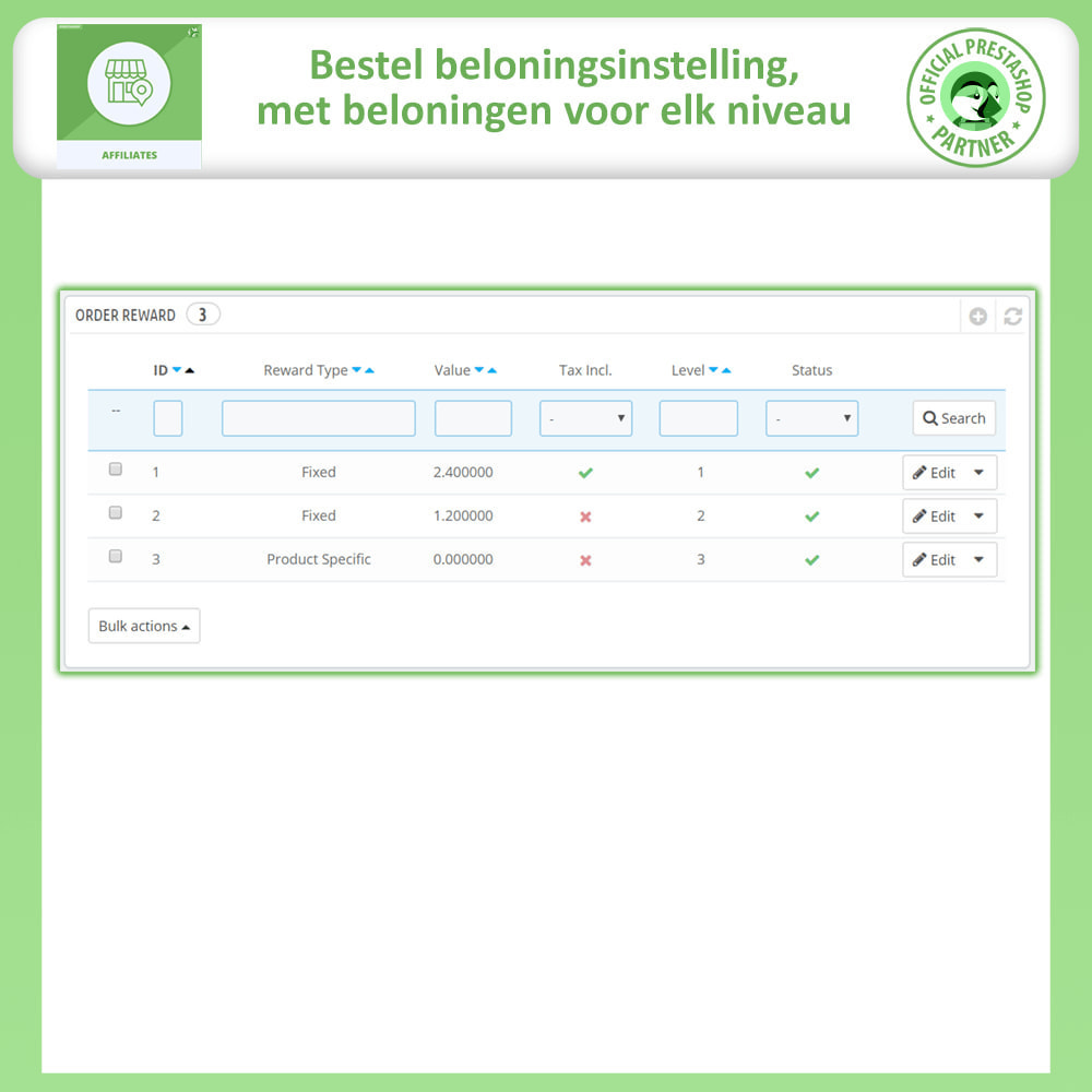 module - Betaalde vermelding & Lidmaatschap - Affiliates Pro, Affiliate & Referral Program - 17