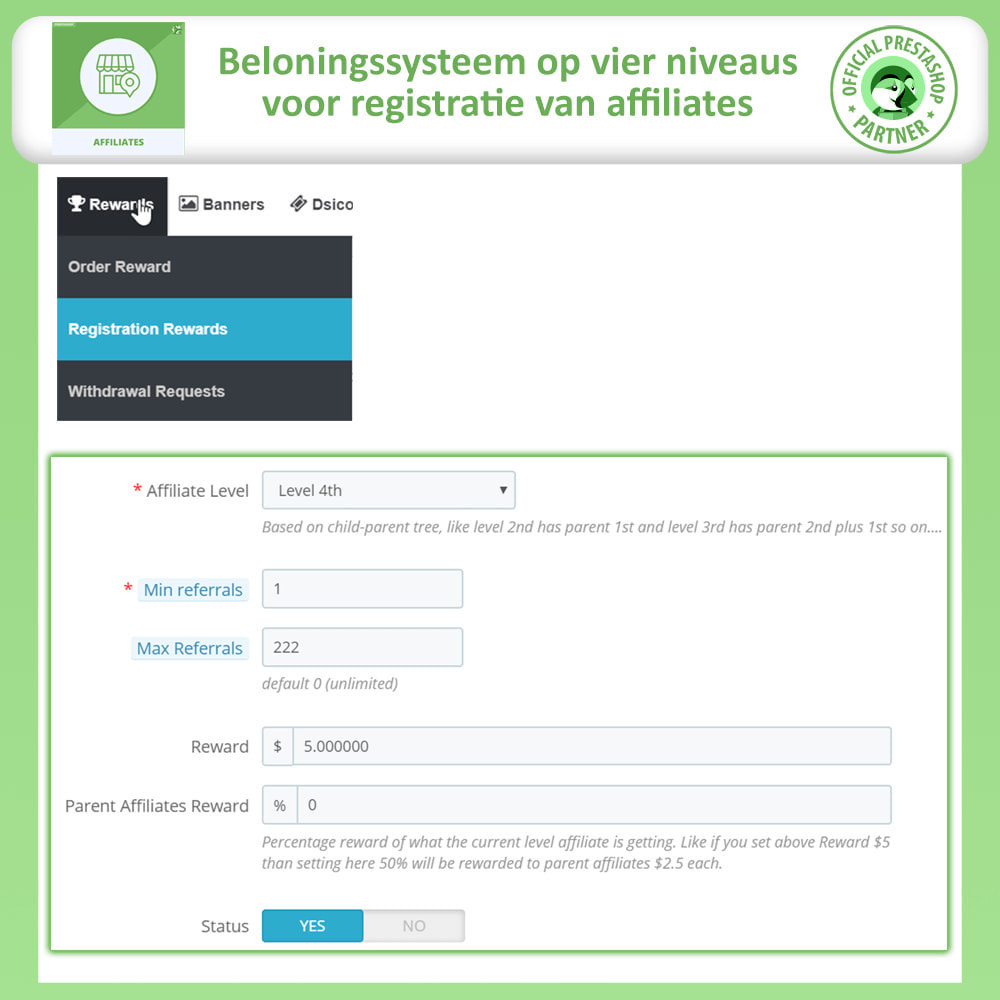 module - Betaalde vermelding & Lidmaatschap - Affiliates Pro, Affiliate & Referral Program - 18