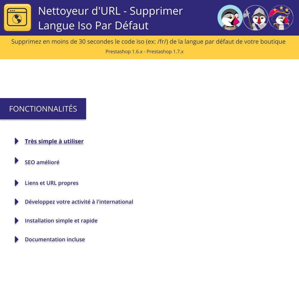 module - URL & Redirections - Nettoyeur D'URL - Supprimer Langue Iso Par Défaut - 1