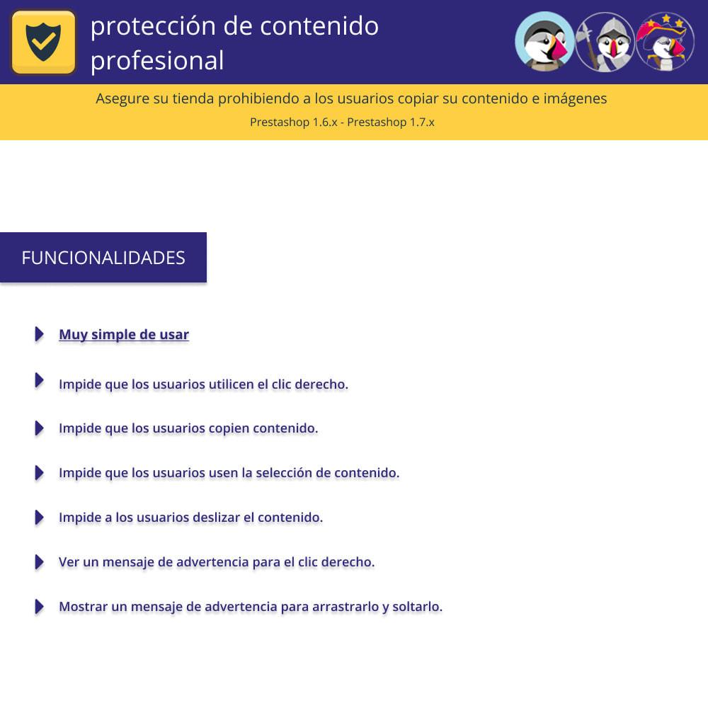 module - Seguridad y Accesos - Pro Content Protection - Proteja su contenido - 1