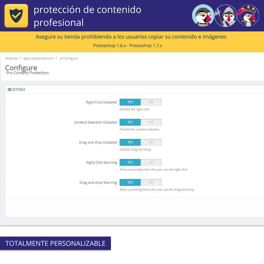 module - Seguridad y Accesos - Pro Content Protection - Proteja su contenido - 3