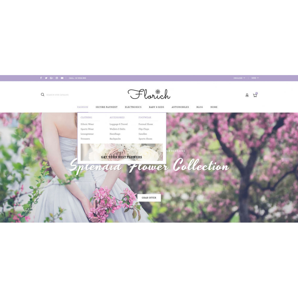 theme - Gifts, Flowers & Celebrations - Florich - Wedding Flowers Store - 6