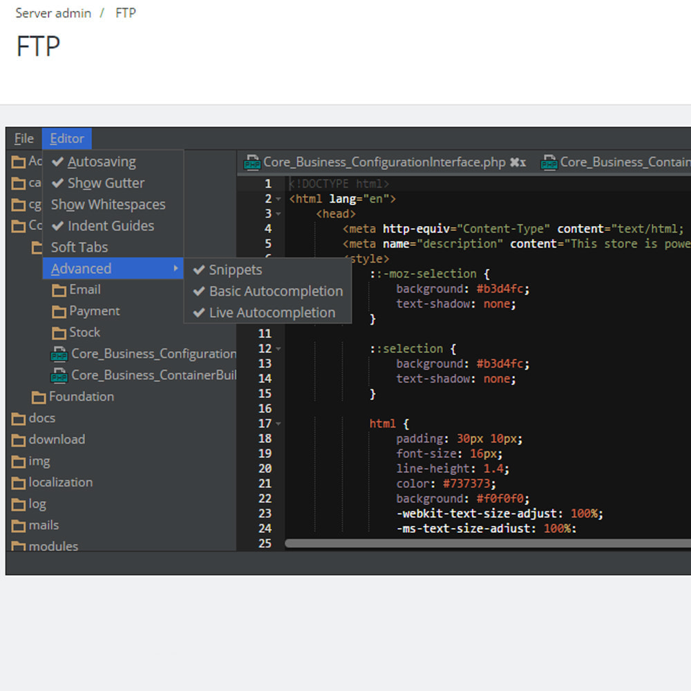 module - Narzędzia administracyjne - Backoffice FTP i Shell - 2