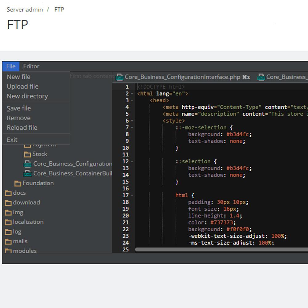 module - Narzędzia administracyjne - Backoffice FTP i Shell - 3