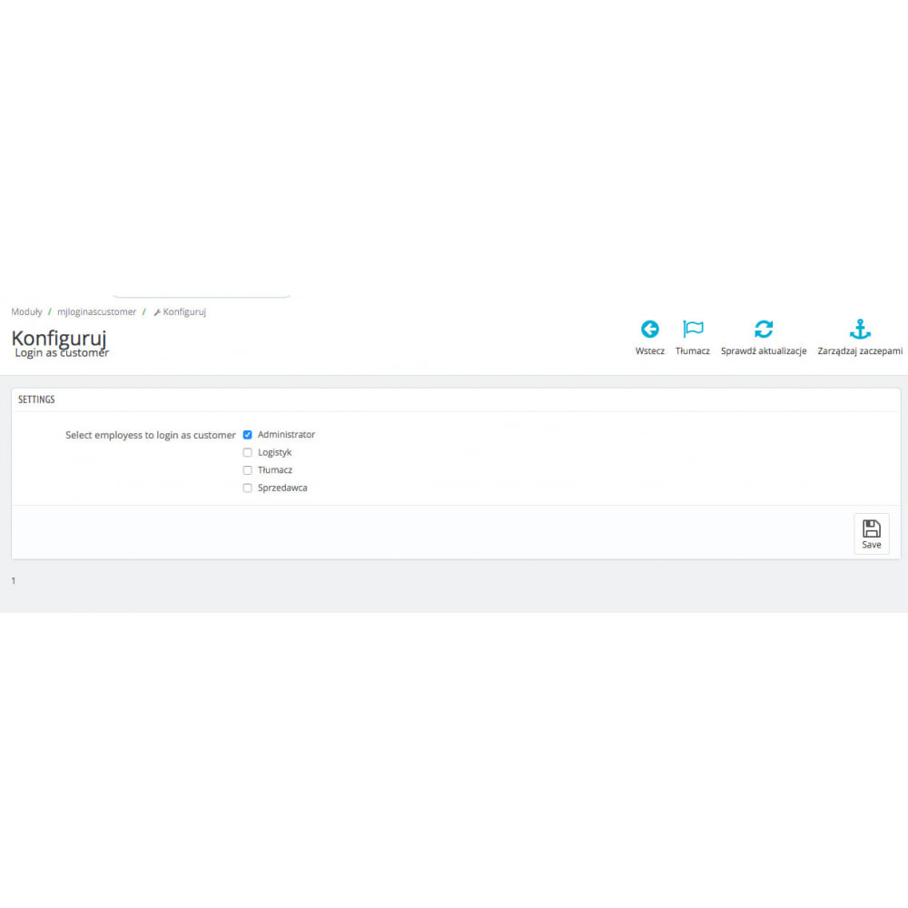 module - Przyciski do logowania  & Connect - Zaloguj jako klient i dostęp do konta klienta bez hasła - 1