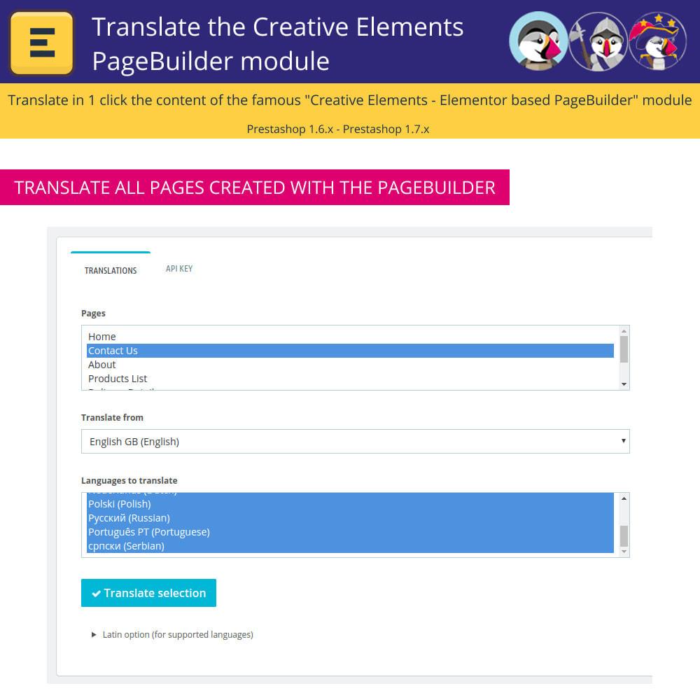 module - International & Localization - Translate The Creative Elements PageBuilder - 5