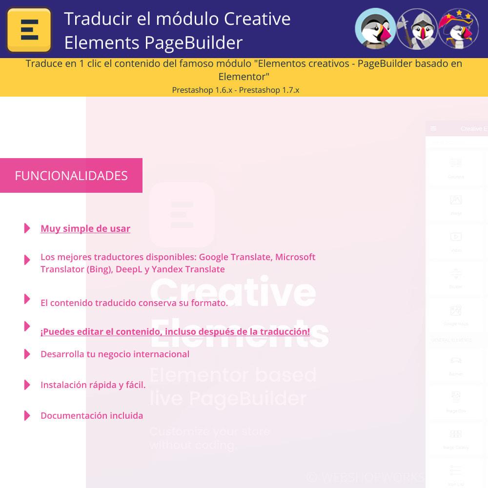 module - Internacionalización y Localización - Traducir el Creative Elements PageBuilder - 1
