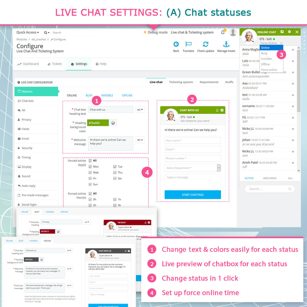 module - Ondersteuning & Online chat - Live Chat and Ticketing System - 4