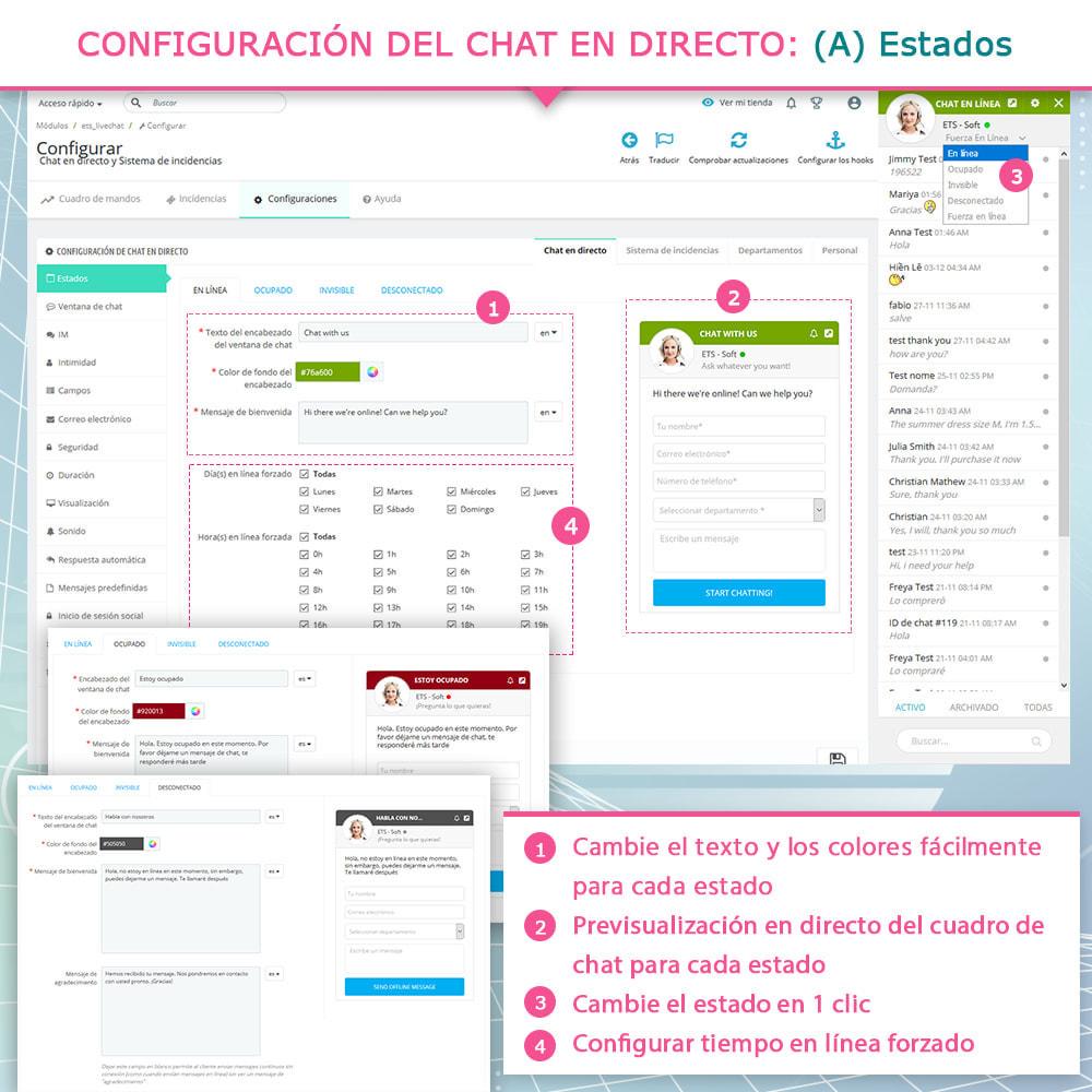 module - Asistencia & Chat online - Chat en directo y Sistema de incidencias - 4