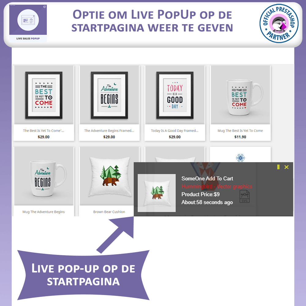 module - Dialoogvensters & Pop-ups - Live Sales Popup - 3