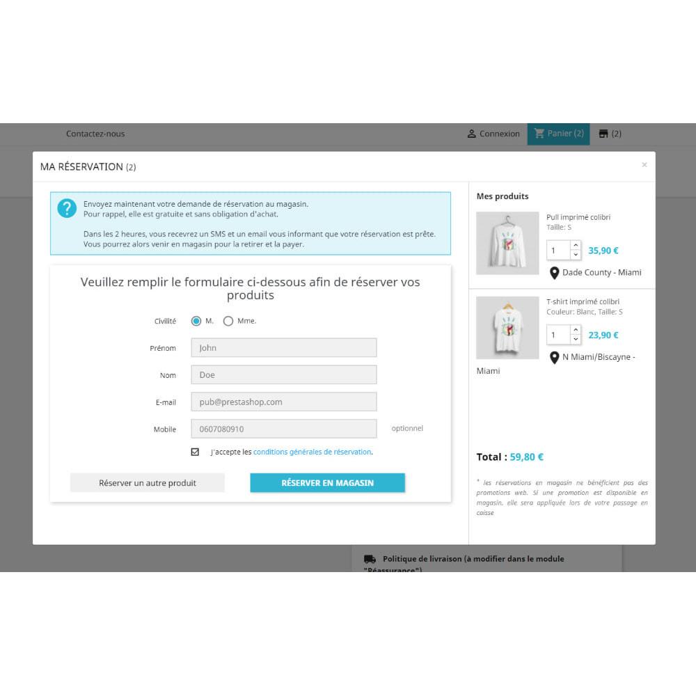 module - Gestion des Stocks & des Fournisseurs - Click & Collect Advanced / E-Reservation - 4