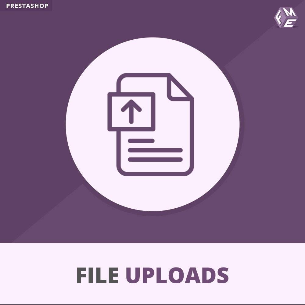 module - Information supplémentaire & Onglet produit - Téléchargement de fichiers par le client - 1
