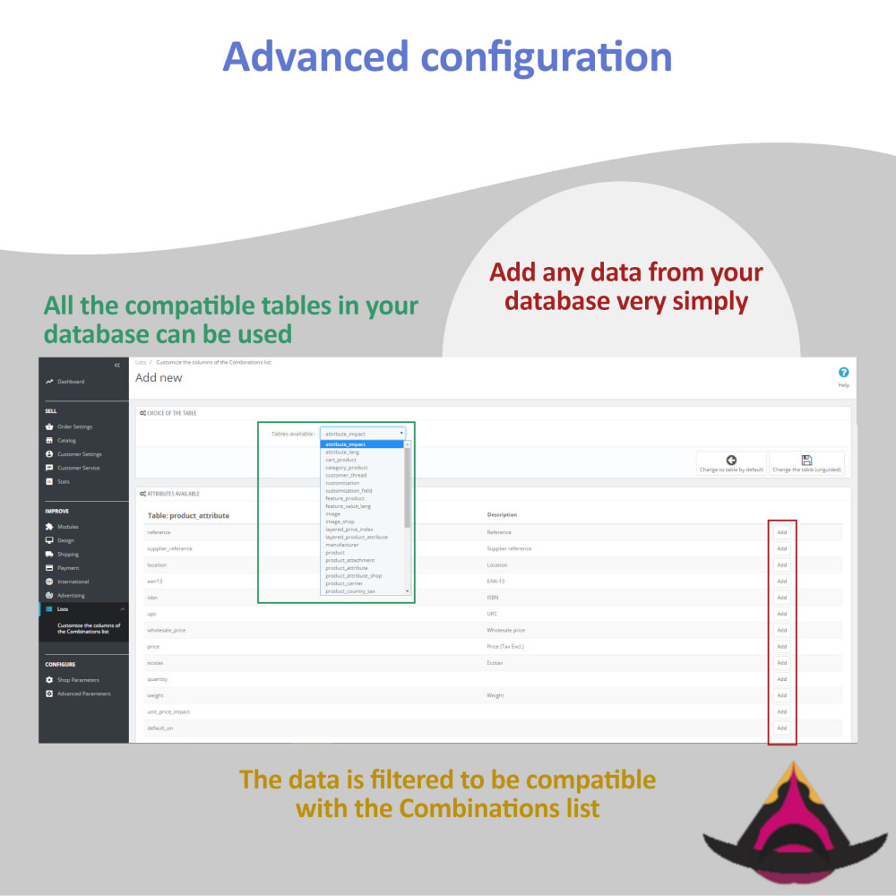 module - Combinations & Product Customization - List of combinations for the back-office - 4
