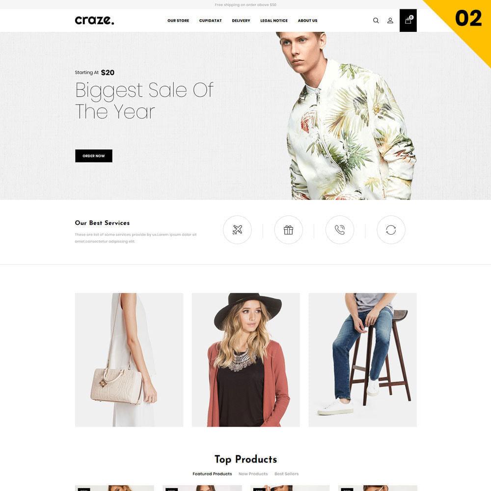 theme - Moda y Calzado - Craze - La tienda en línea multipropósito - 5