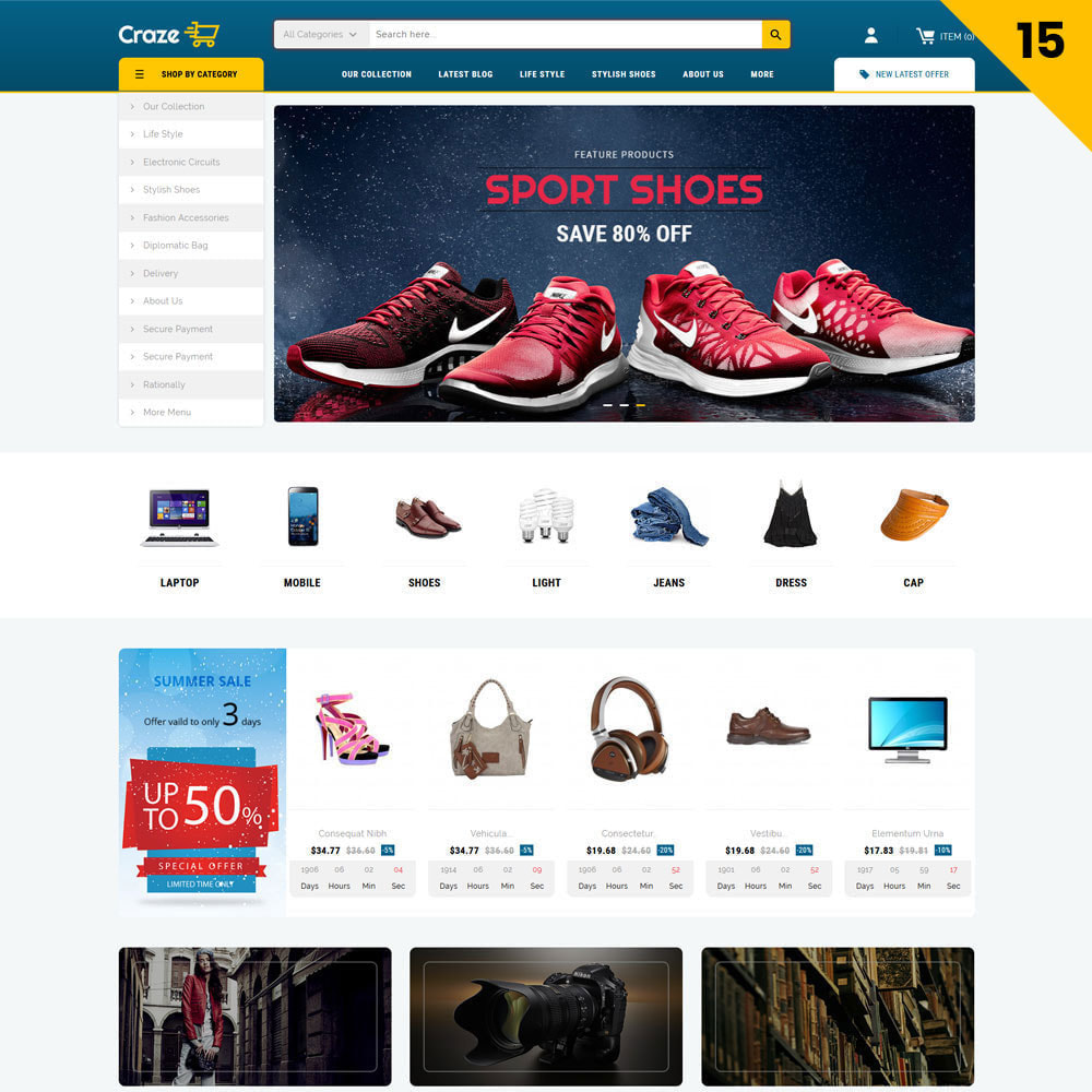 theme - Fashion & Shoes - Craze - The Multipurpose Online Store - 17