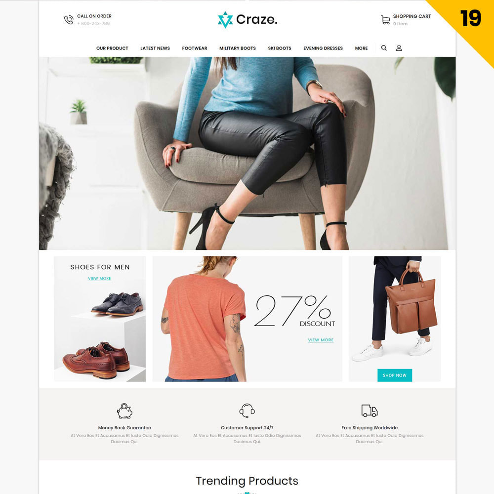 theme - Fashion & Shoes - Craze - The Multipurpose Online Store - 21