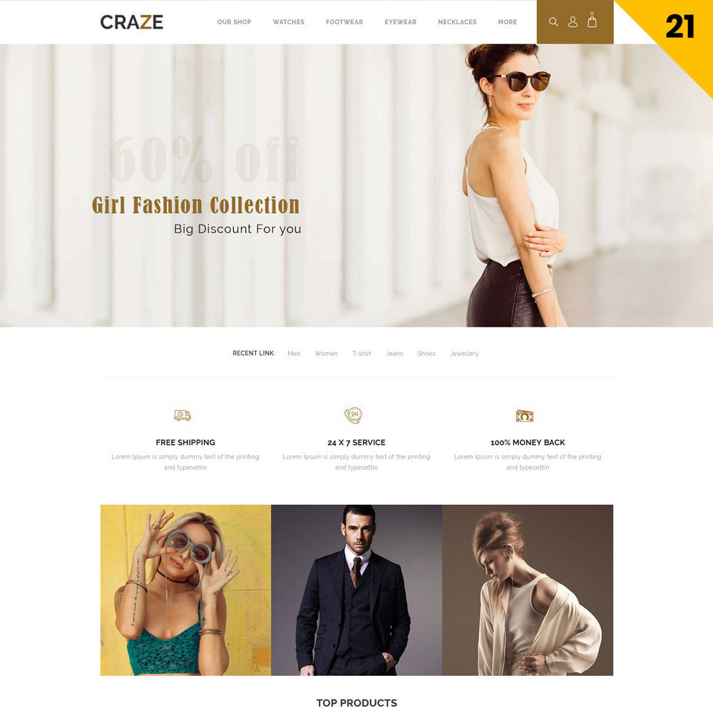 theme - Fashion & Shoes - Craze - The Multipurpose Online Store - 23