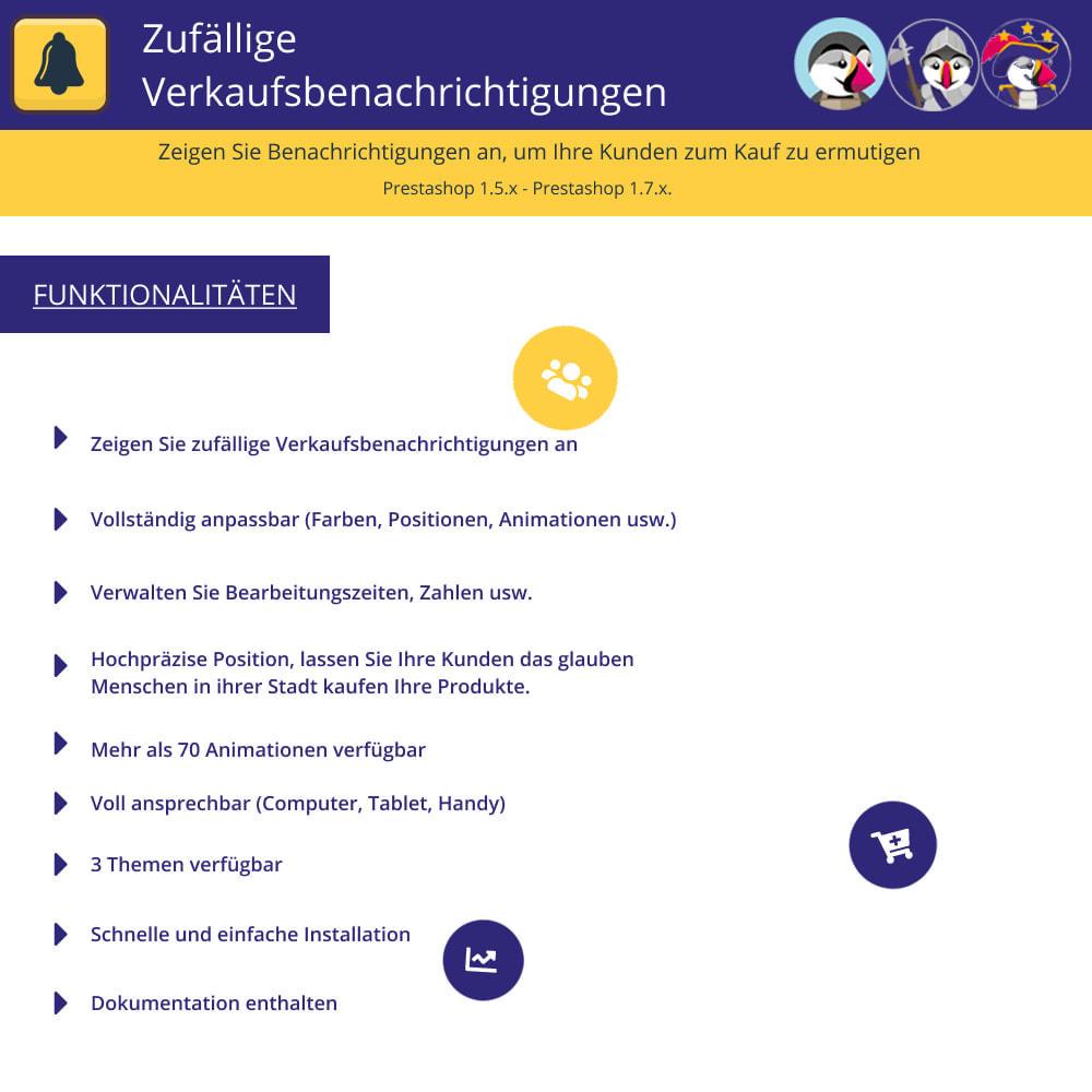 module - E-Mails & Benachrichtigungen - Zufällige Verkaufsbenachrichtigungen - 1