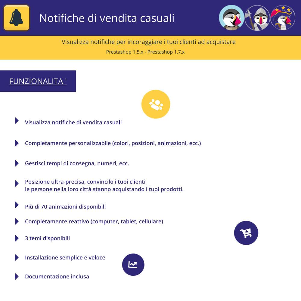 module - Email & Notifiche - Notifiche di vendita casuali - 1