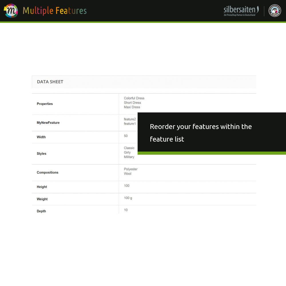 module - Combinazioni & Personalizzazione Prodotti - Diverse caratteristiche del prodotto e importazione - 5