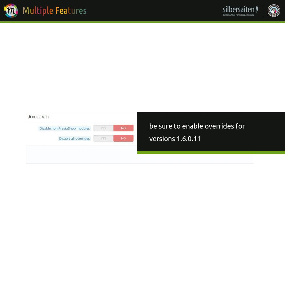 module - Combinazioni & Personalizzazione Prodotti - Diverse caratteristiche del prodotto e importazione - 7