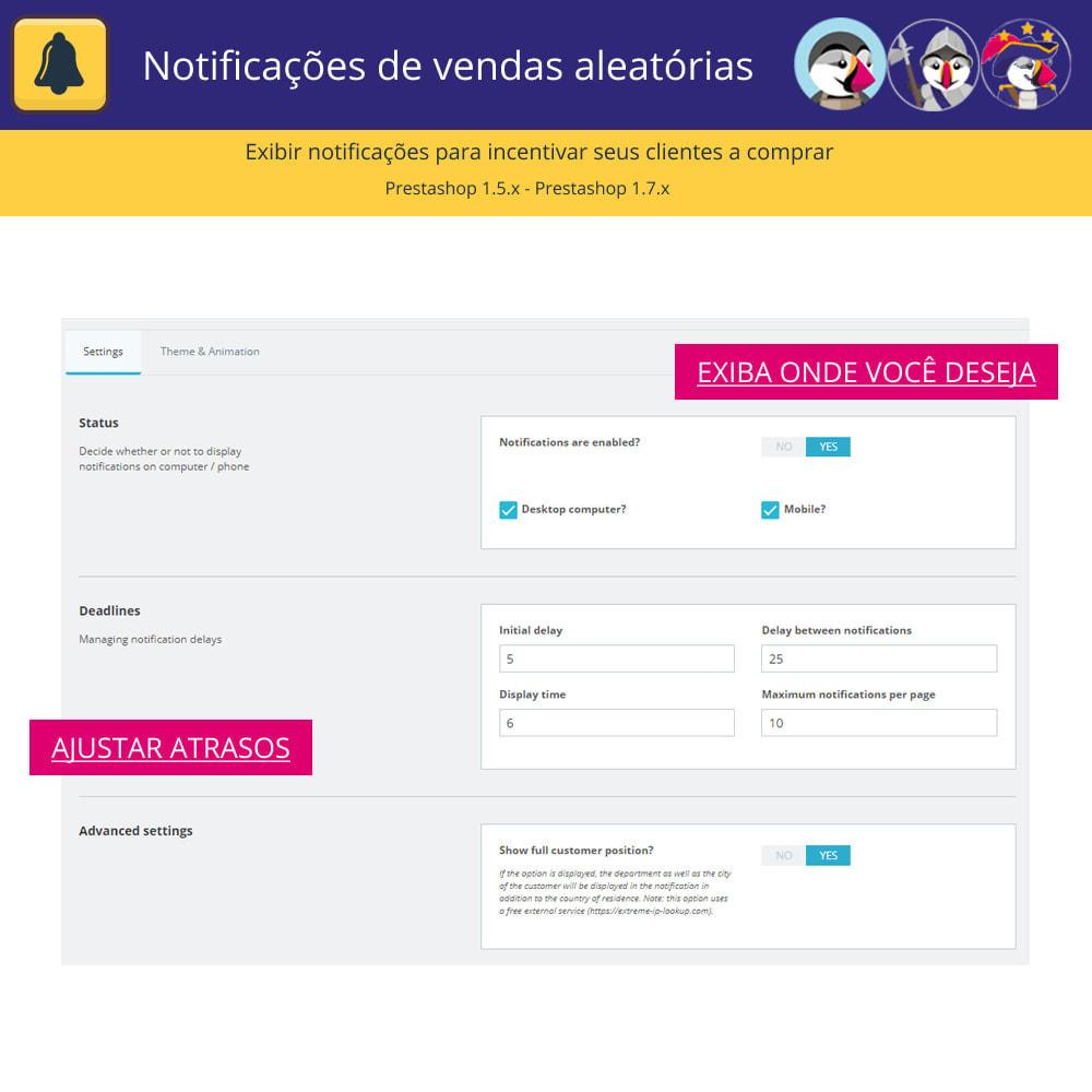 module - E-mails & Notícias - Notificações de vendas aleatórias - 4