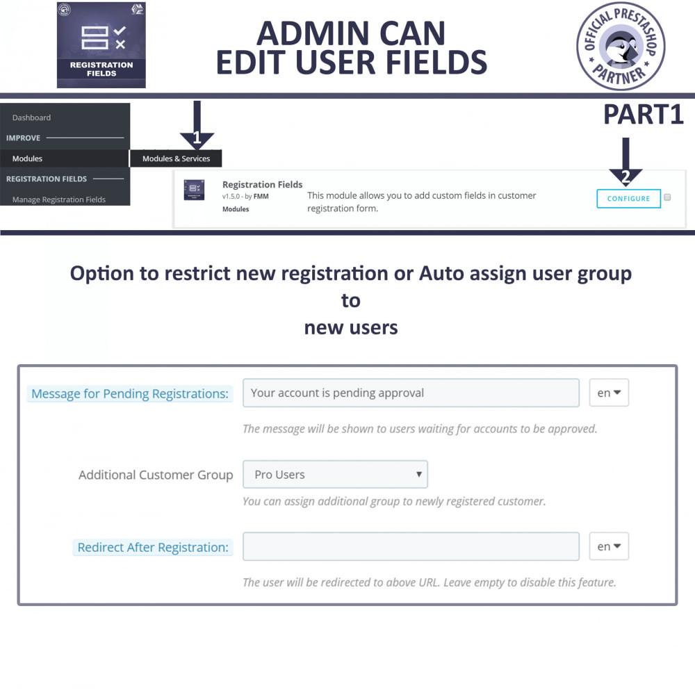 module - Cadastro e Processo de Pedido - Custom Registration Fields - Registration Validation - 8